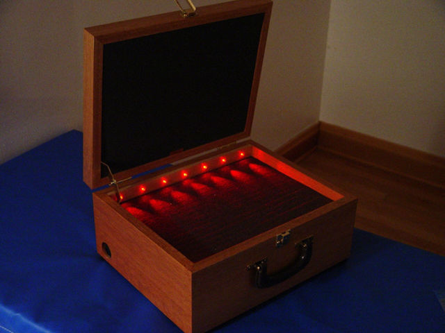 Picture of APM - mahogany Case for Eyepieces and Accessory, LED illuminated