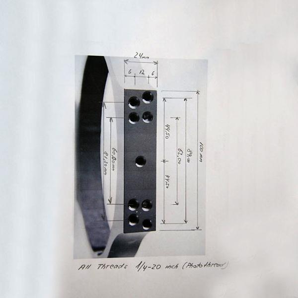 Bild von APM CNC Rohrschelle 170mm - Paar