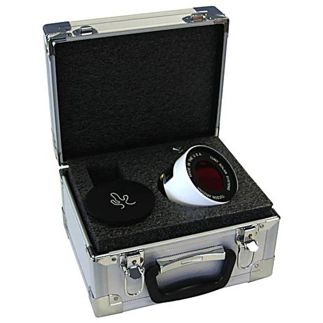 Picture of 50mm H-alpha double-stack solar filter, for all LS50FHa filter-systems and LS60THa/LS60MT telescopes
