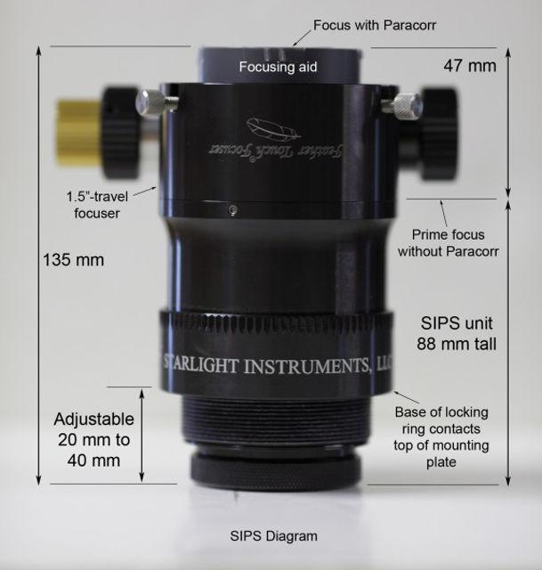 Bild von Starlight SIPS TeleVue Koma-Korrektor mit Adapter für FT Fokussierer