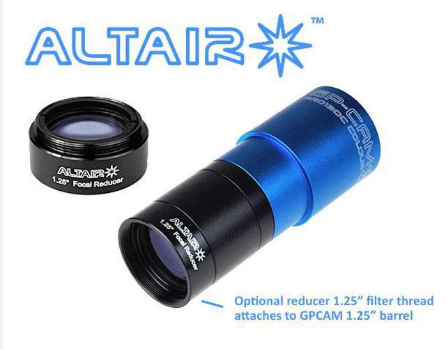 Bild von Altair GPCAM & Hypercam 0.5x Reducer - Auto Guiding EAA Video Astronomy Solar