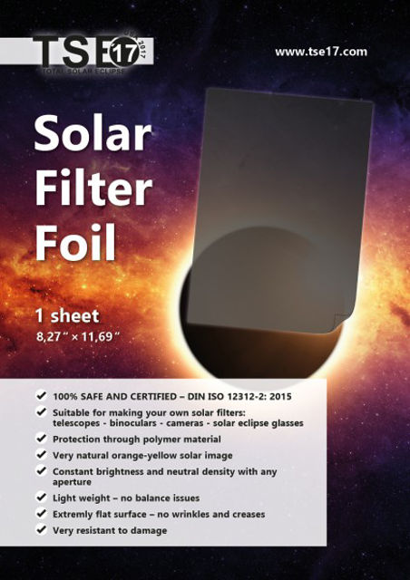 Picture of APM TSE17 A4 SOLAR FILTER FILM