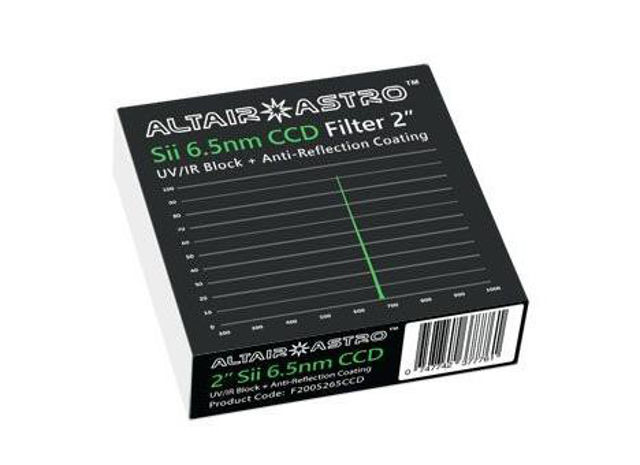 """Picture of Altair SkyTech 2"""" Premium 6.5nm Sii Narrowband Filter"""