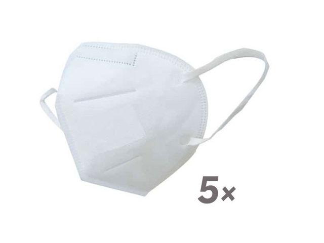 Bild von KN95 (FFP2) Atemschutzmaske (ohne Ventil) - 5 Stk. (= 1 Mengeneinheit)