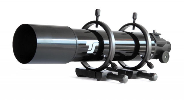 Picture of TS Optics 80 mm Guide Scope with 600 mm focal length, including tube rings