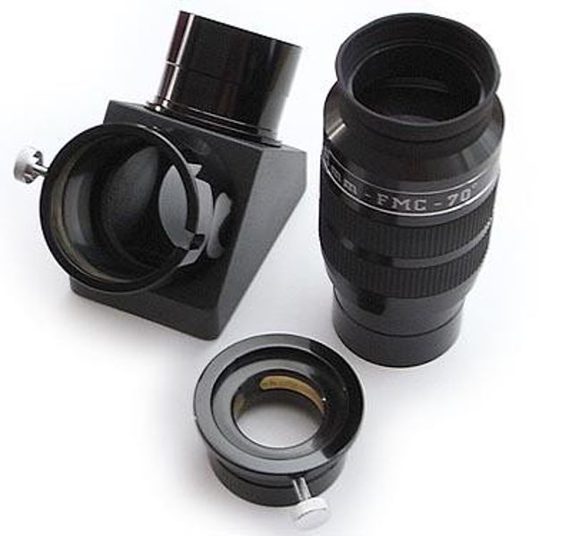 """Picture of DELUXE 2"""" Kit - 2"""" Wide Angle Eyepiece Erfle 38mm with 70° FOV and 2"""" dielectric star diagonal"""