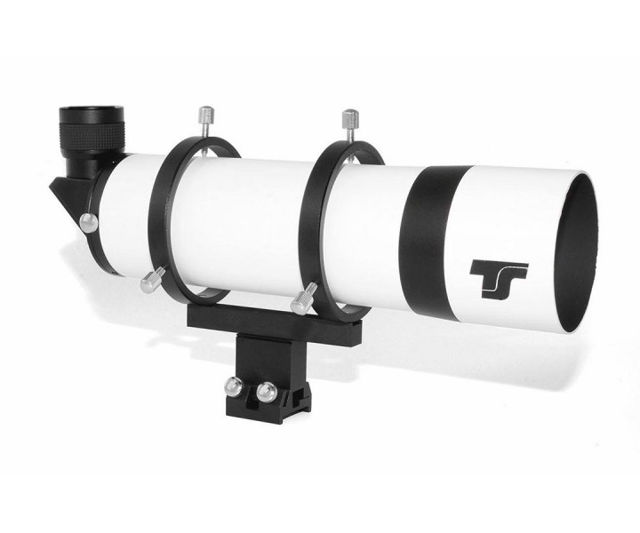 """Picture of TS-Optics 80 mm Right-Angle Finder Scope with 90° Amici prism and 1.25"""" helical focuser"""