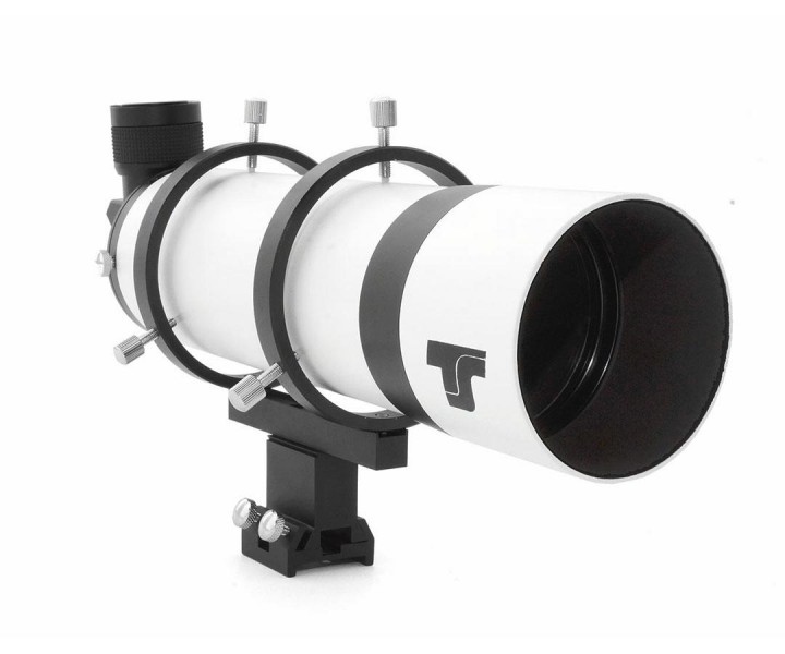 """Bild von TS-Optics 80-mm-Winkelsucher mit 90°-Amiciprisma und 1,25""""-Helical-Auszug"""