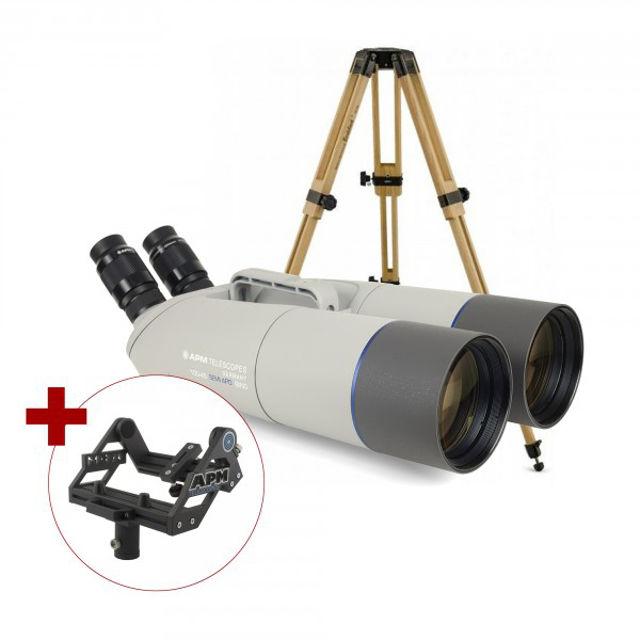 Bild von APM 100mm 45° Fernglas mit UF18mm, Gabelmontierung & Stativ