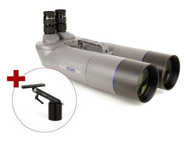 Bild von APM 100mm 90° ED-Apo Fernglas mit UF18mm & 1-Arm-Montierung