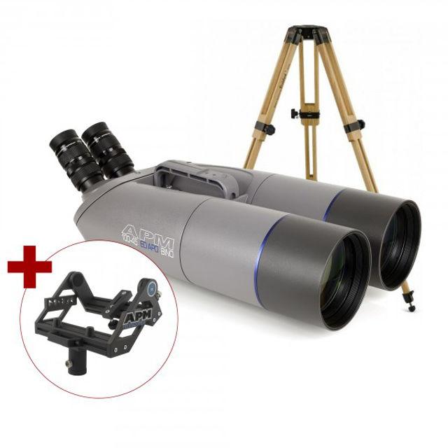 Bild von APM 100mm 45° ED-APO Fernglas mit UF18mm, Gabelmontierung & Stativ