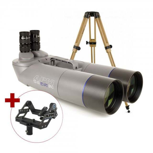 Picture of APM 100mm 90° ED-Apo Binocular with UF18mm, Center-Mount & Tripod