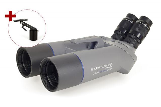 """Bild von APM 70 mm 45° SD-Apo-Fernglas mit 1,25"""" Wechselokularaufnahme und Einarmmontierung"""
