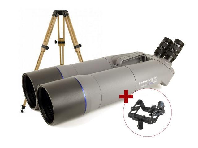 """Bild von APM 120 mm 90° SD-Apo Fernglas mit 1,25"""" Wechselokularaufnahme, APM Gabel-Montierung & Stativ"""