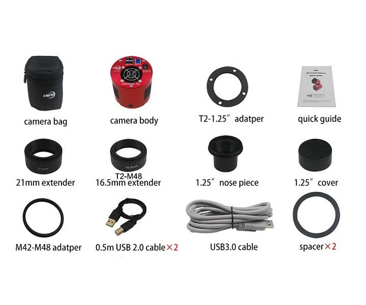 Picture of ZWO Color Astro Camera ASI294MC Pro cooled - Sony Sensor D=23.2 mm
