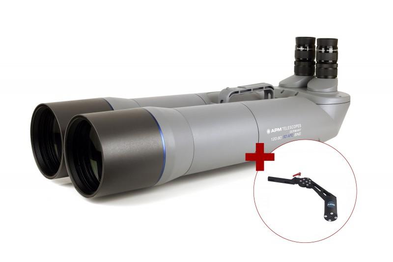 Bild von APM 120mm 90° SD-APO Fernglas mit UF18mm & 1-Arm-Montierung