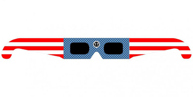 """Picture of Solar eclipse glasses """"Stars and stripes"""" (Eclipse glasses) by TSE17"""