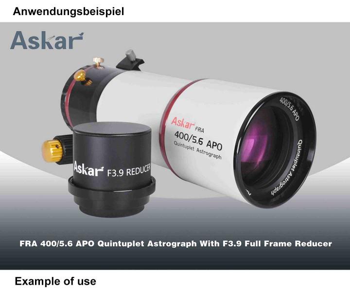 Picture of Askar f/3.9 Full-Frame Reducer for FRA400 and FRA500 Flatfield Astrograph