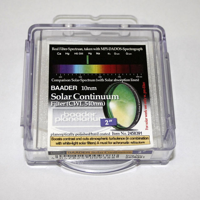 """Picture of Baader - Solar Continuum contrast filter for solarobserving 2"""""""