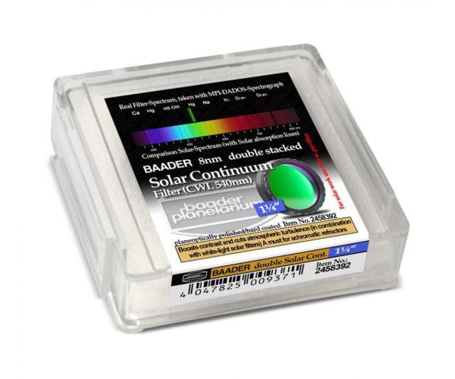"""Picture of Baader 1.25"""" Solar Continuum contrast filter - doublestack"""