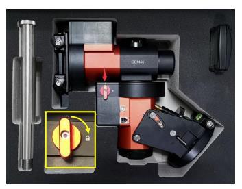 Bild von iOptron GEM45-NUC Montierung mit Stativ, iPolar und 20 kg Traglast, NUC ready