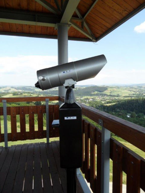 Picture of APM 25x100 UNIVERSAL spotting binoculars with card reader