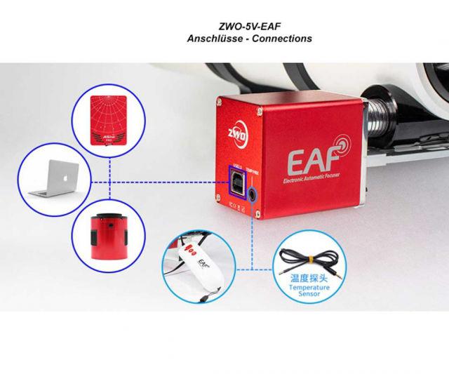 Bild von ZWO EAF Motorfokus System mit 5 V Stromversorgung über USB